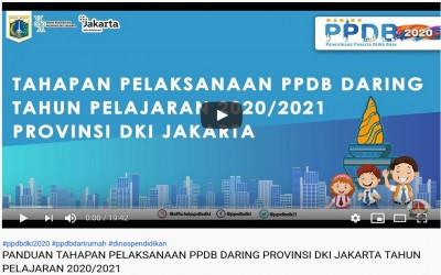 PANDUAN TAHAPAN PELAKSANAAN PPDB DARING PROVINSI DKI JAKARTA TAHUN PELAJARAN 2020/2021
