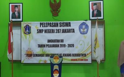 SMPN 287 Jakarta Menggelar Acara Pelepasan Kelas IX Virtual Online