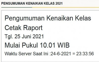 Pengumuman Kenaikan Kelas Online   Download E-Rapor SMP Negeri 287 Jakarta